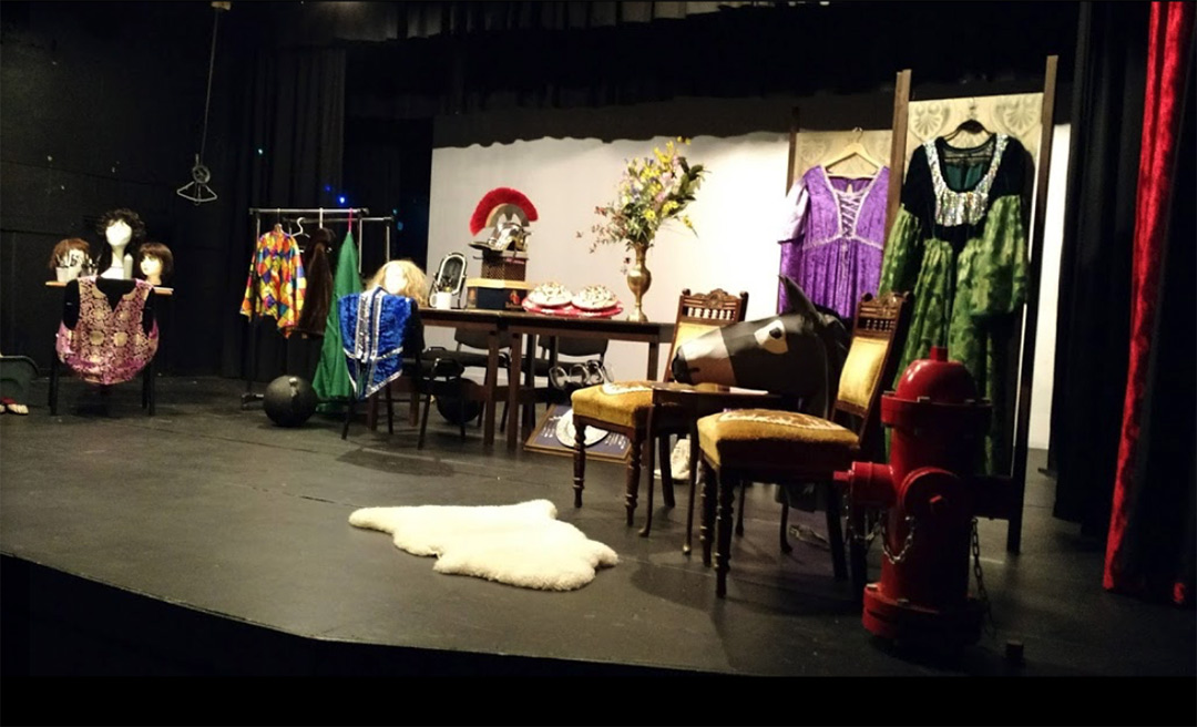 Little Ladysmith Theatre stage and props